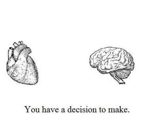 choose, heart, and decition image