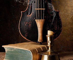 violin, book, and music image