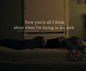 love, dark, and quote image