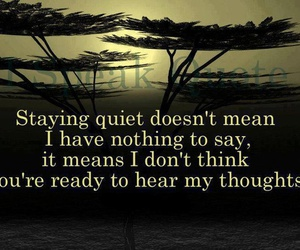 quote, thoughts, and quiet image