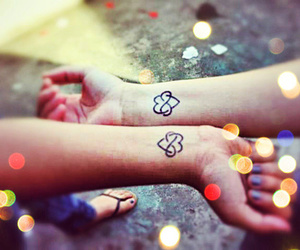 bff, heart, and infinite image