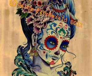 day of the dead, dia de los muertos, and girl image