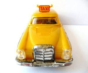 cab, mercedes benz, and taxi image