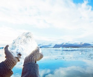 beautiful, hands, and ice image