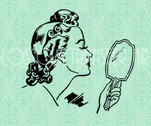 clipart, lady, and retro image