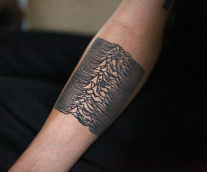 tattoo, joy division, and arm image