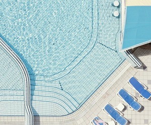 pool, summer, and blue image