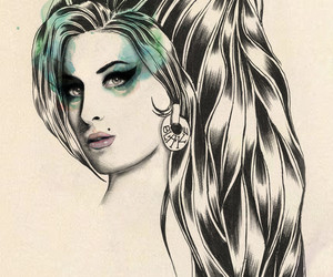 Amy Winehouse, graphic design, and painting image