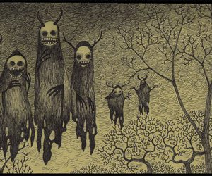 creepy, ghost, and monster image