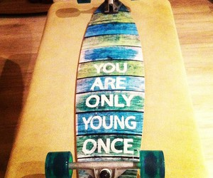 are, blue, and longboard image