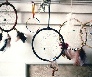 Dream, dream catcher, and vintage image