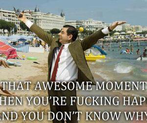 happy, mr bean, and awesome image