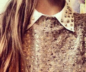 beauty, blouse, and brown hair image
