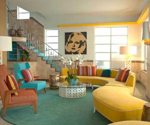 interior, colorful, and design image