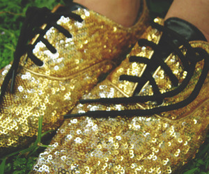 brogues and gold image