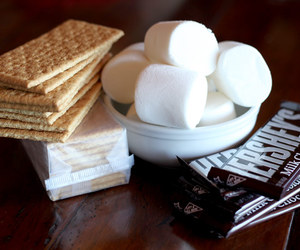 marshmallow, smores, and food image