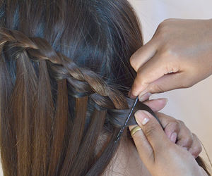 braid, tutorial, and hairstyle image