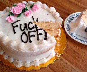 cake, flowers, and fuck image
