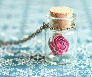 rose, flower, and necklace image
