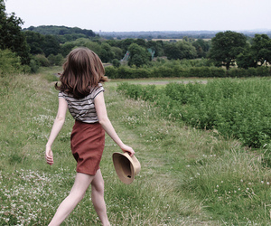 girl, vintage, and nature image