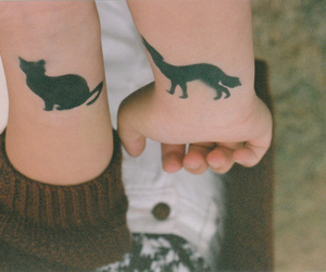 tattoo, cat, and vintage image