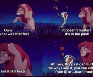 lion king, past, and quote image