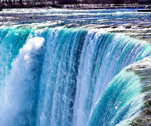 waterfall, blue, and photography image