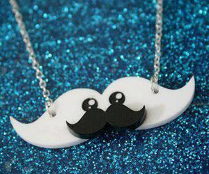 cute, mustache, and necklace image
