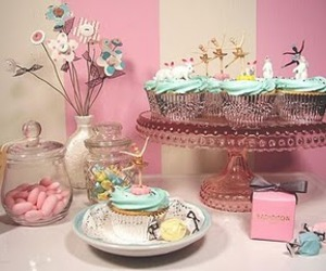 cupcake, pink, and candy image