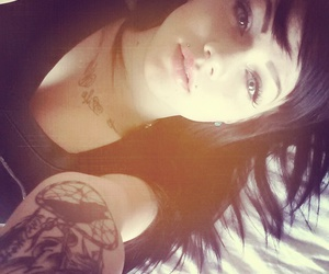 black, hair, and inked image