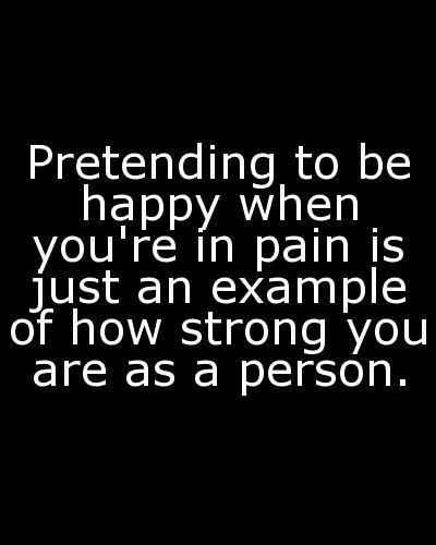 Life quotes / Hiding pain behind a smile. on We Heart It