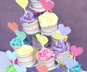 color, cupcakes, and delicious image