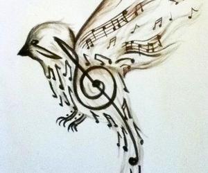 music notes bird image