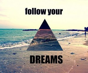 Dream, follow, and beach image