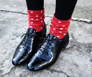 fashion, outfit, and black oxford shoes image