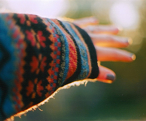 hand, sweater, and indie image