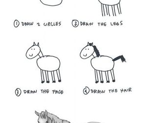 horse, funny, and draw image