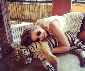 love, girl, and tiger image