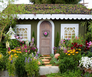 house, garden, and nature image