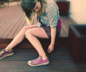 girl, fashion, and all star image