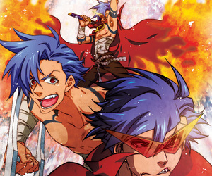 anime, boy, and fire image