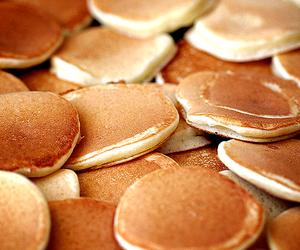 pancakes, food, and sweet image