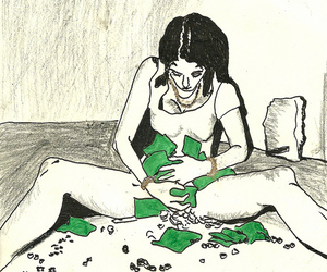ink, mixed media, and money image