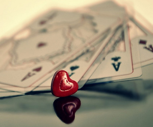 heart, poker, and poker face image