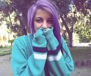alternative, nature, and violet hair image