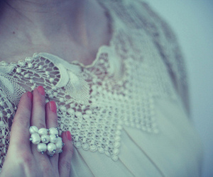 fashion, lace, and pearls image