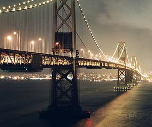 bridge, light, and night image