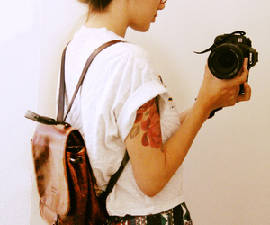 girl, camera, and hipster image