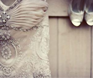 dress, shoes, and diamond image