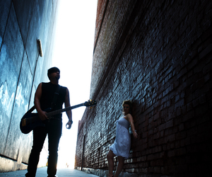 alley, couple, and girl image